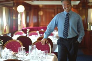 Food and beverage managers on cruises supervise meals.