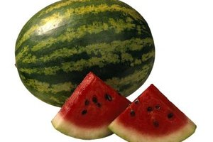 Leave the seeds in cut watermelon when you store it to help keep it fresh.