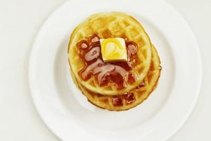 Don't top waffles until they are about to be eaten.