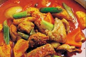 Cook curry in a nonreactive pot to prevent off flavors from acidic ingredients.
