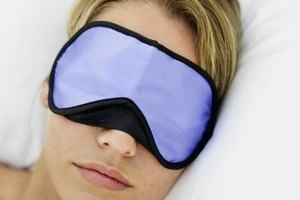 Try an eye mask to help you sleep after a night shift.