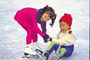 Ice skating is an activity for kids of all ages.
