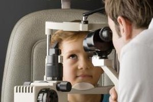Optometrists use equipment such as an aberrometer to diagnose eye problems.