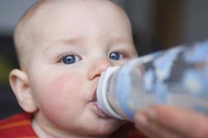 Check the bottoms of your baby's bottles for indications that the bottle might contain BPA.