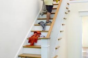 Never leave objects on the stairs.