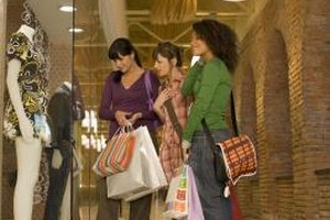 Spending time in the mall with friends can be risky for children.