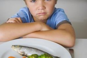 Fish and vegetables provide essential nutrients for growing children.