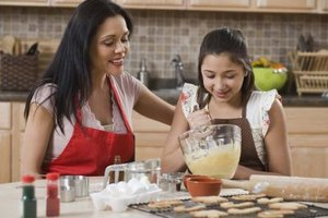 Bake together for the tea party for some mother and daughter time.