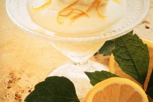 Sugared lemon peels add flavor to desserts as well as cocktails.