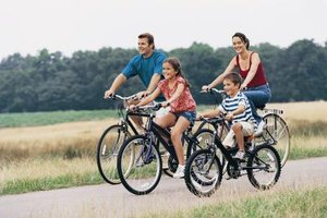 Families can go biking on the miles of trails in DuPage County.