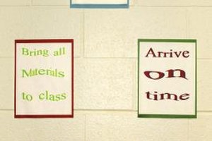Classroom rules will likely be posted where all students can see them.