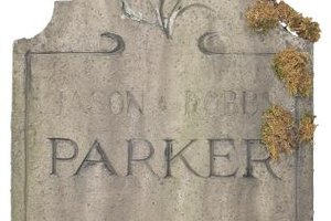 A fading headstone name evokes the history of a time and family.