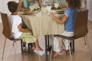 Family meal time is an ideal opportunity to stay connected.