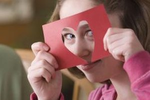 Crafting helps your teen create personal Valentine gifts.