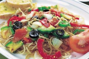 A warm or cold pasta salad provides an easy lunch or dinner.