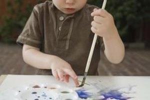 Arts and crafts build many skills in little ones, such as fine motor skills.