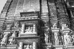 Jain temples are recognizable from their elaborate carvings.