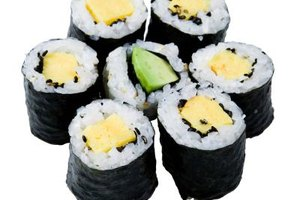 Sushi is not only tasty, but exquisite to look at.
