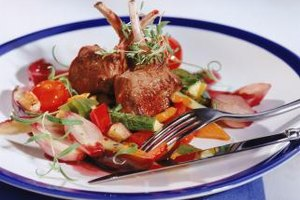 A simple vegetable medley complements lamb chops.
