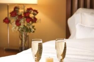 Set up your hotel room for romance on your anniversary night.