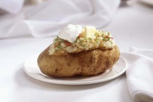 Baked potatoes can be prepared in bulk even with a home oven.