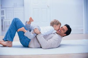 Playing with Dad influences kids' behavioral and social development.