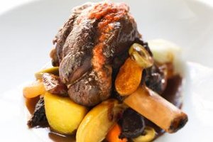 Serve tender lamb shank to the family.