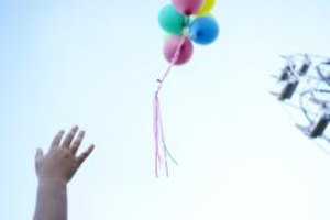 Remember a deceased parent's birthday with balloons.