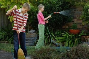 Your kids can help out with household chores.