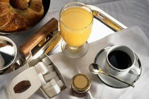 The continental breakfast is a light meal often served in hotels.