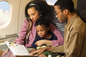 Take things to keep your child occupied during the flight.
