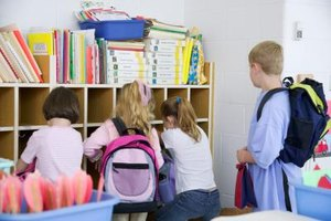Teach elementary students to organize classroom materials and personal belongings.