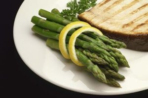 Asparagus is a traditional accompaniment for grilled swordfish.