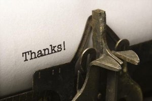 Add a few special touches to the basic thank-you message.