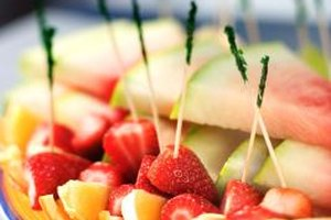 Fruit is a simple but tasty choice to complement main dishes at a wedding potluck.
