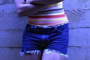 Cutoff shorts are a fashionable way to recycle your old jeans.