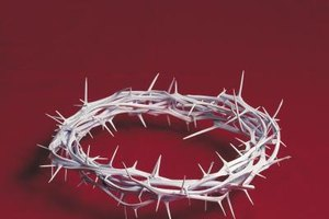 Jesus was forced to wore a crown of thorns that pierced his flesh.