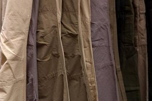 An iron is not the only way to remove wrinkles from khakis.