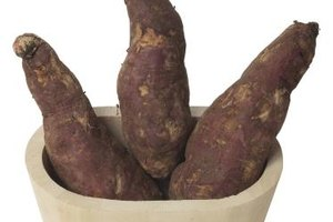 Japanese yams have a medium-toned red skin and white flesh.