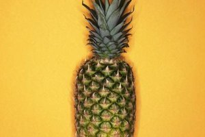 Shop for pineapples that are golden brown with fresh-looking green leaves.
