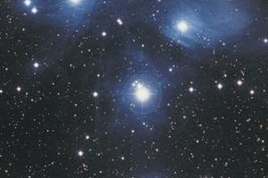 The Pleiades cluster in Taurus is visible during the winter.