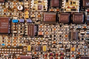 Computer memory chips store system and user data.