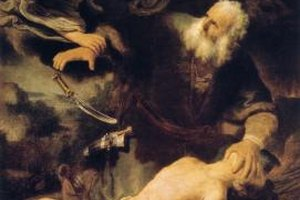 Rembrandt's famous depiction of Abraham. Abraham is considered the patriarch of Judaism, Christianity, and Islam.