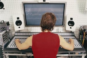 Music producers use sound recording equipment to refine recordings.