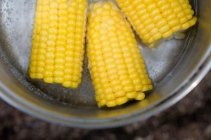 Boil your corn with honey to enhance texture and sweetness.