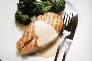 Sauces provide the finishing touch on dishes such as grilled salmon.