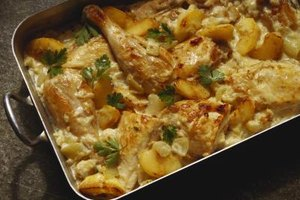 Chicken casserole can be prepared and frozen months ahead of time.