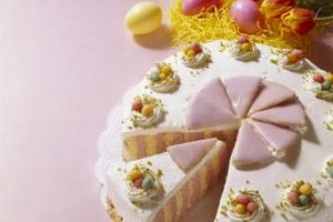 Marzipan can be tinted to make colorful decorations for cakes.