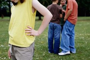 Children with Asperger's syndrome may find themselves on the outside of social groups.