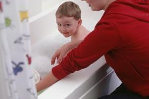 Keeping a close eye on your child in the bathtub ensures his safety.